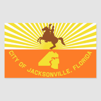 FOUR Jacksonville Flag Rectangular Sticker