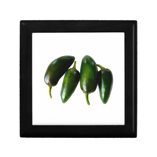 Four Jalapeno Peppers Green Photograph Gift Box