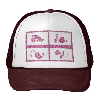 Four Jewels on 3 Artist Created Color Pallets Trucker Hat