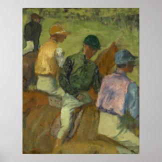Four Jockeys Poster