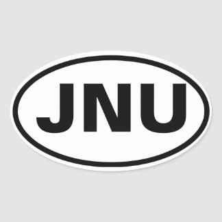 "FOUR Juneau, Alaska ""JNU"" Oval Sticker"