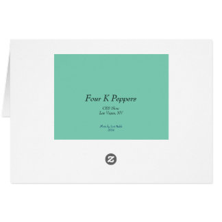 Four K Peppers Card