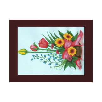 Four kinds of Beautiful Flowers Canvas Print