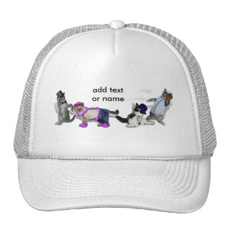 Four Kittens At Play Trucker Hats