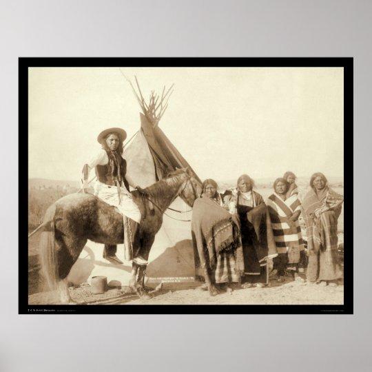 Four Lakota Indian Women in front of Tipi