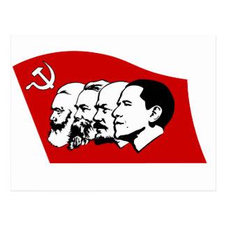Four leaders of socialism postcard