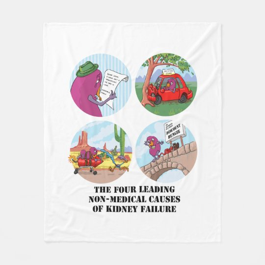 Four Leading Non-Medical Causes Fleece Blanket