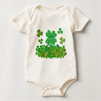 Four-Leaf Clover Baby Bodysuit