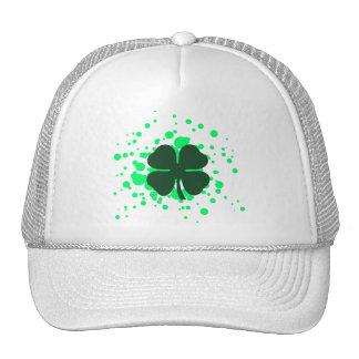 four leaf clover : bubbles : trucker hat