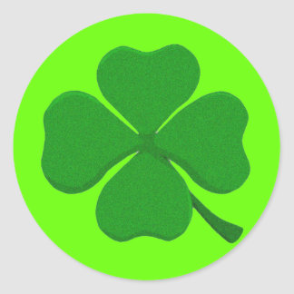 Four Leaf Clover Classic Round Sticker