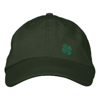Four Leaf Clover Embroidered Cap