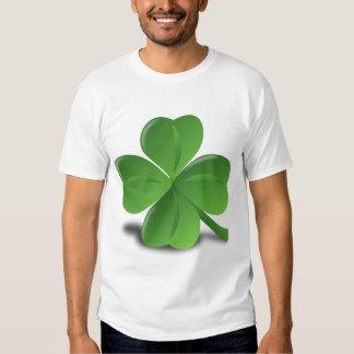 Four leaf clover glazing tee shirt