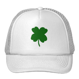 Four leaf clover, green clover, St. Patrick's Day Mesh Hats