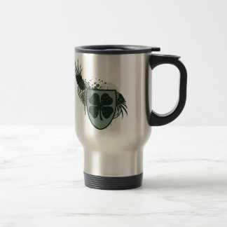 four leaf clover : hi-fi : stainless steel travel mug