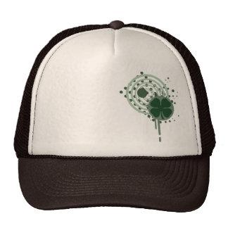 four leaf clover hypnotic bubbles trucker hats