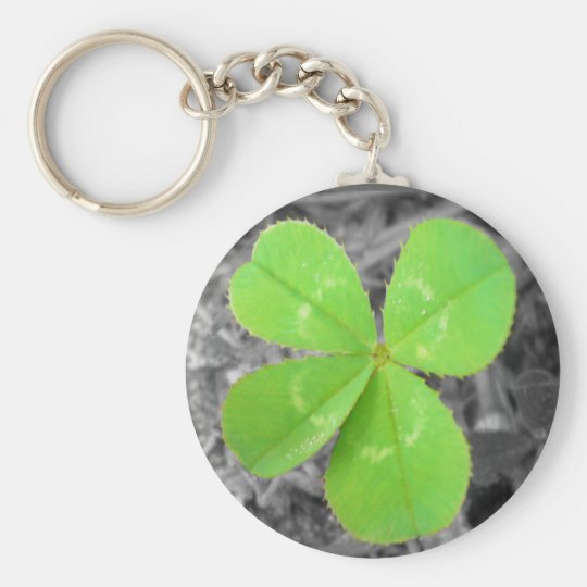 Four Leaf Clover Keychain - Black & White & Colour