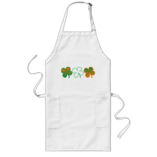 Four-leaf clover long apron