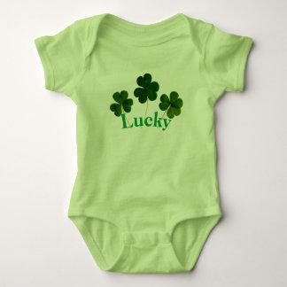 Four Leaf Clover Lucky baby bodysuit
