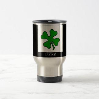 Four Leaf Clover (Lucky) Stainless Steel Travel Mug