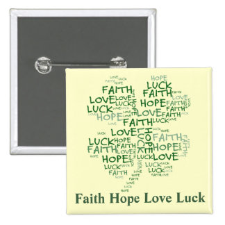 Four Leaf Clover Meaning: Hope, Faith, Love, Luck 15 Cm Square Badge