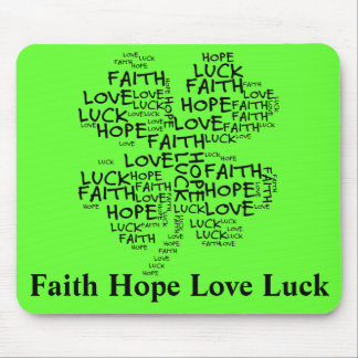 Four Leaf Clover Meaning: Hope, Faith, Love, Luck Mouse Pad