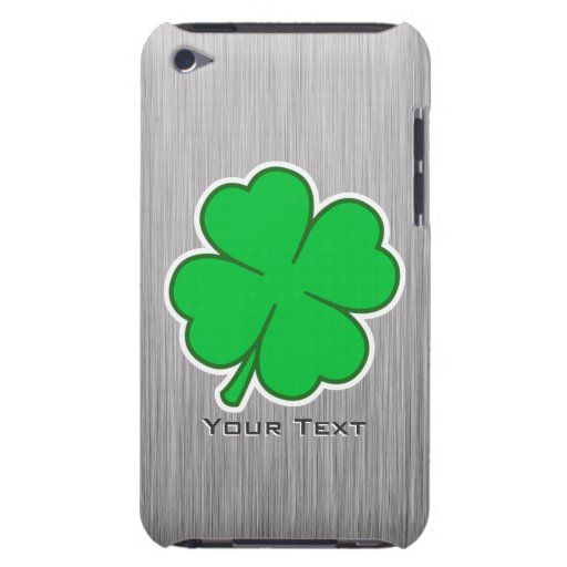 Four Leaf Clover; metal-look iPod Touch Covers