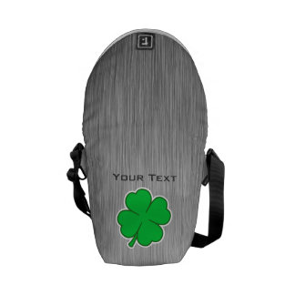 Four Leaf Clover metal-look Courier Bags