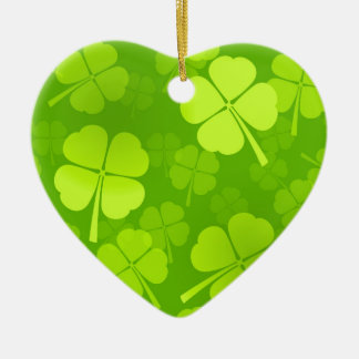 Four-Leaf Clover Pattern Christmas Ornament