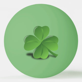 Four leaf clover ping pong ball