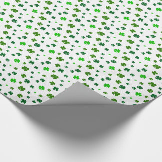 Four Leaf Clover Shamrock Gift Wrap Wrapping Paper