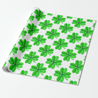 Four Leaf Clover Shamrock Wrapping Paper