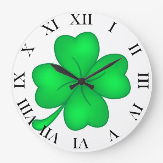 Four-leaf clover sheet large clock