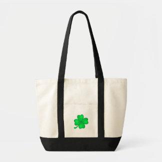Four-leaf clover sheet tote bag