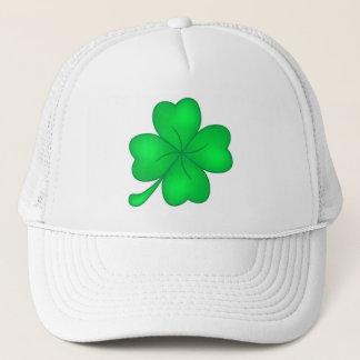 Four-leaf clover sheet trucker hat
