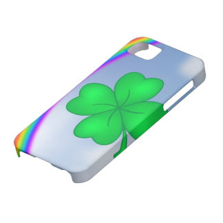 Four-leaf clover sheet with rainbow case for the iPhone 5