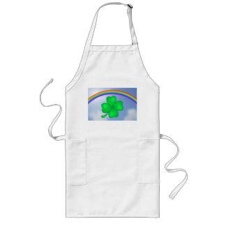 Four-leaf clover sheet with rainbow long apron