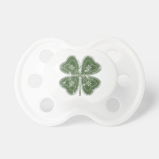 Four Leaf Clover St. Patrick's Day Baby Pacifiers