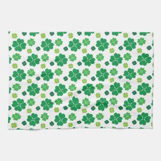 Four Leaf Clover St Patricks Day Tea Towel