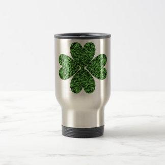 Four Leaf Clover Stainless Steel Travel Mug