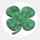 Four Leaf Clover Sticker Round Sticker