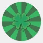 Four leaf clover stickers