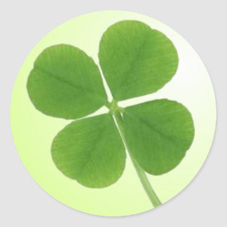 four leaf clover stickers round sticker