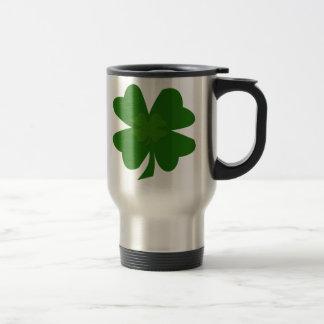 Four-leaf clover travel mug