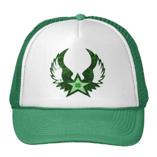 four leaf clover winged star mesh hats