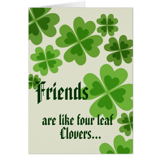 Four Leaf Clovers - Greeting Card