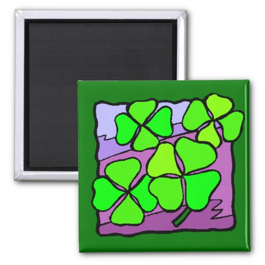 Four Leaf Clovers Magnet