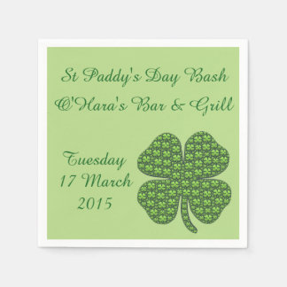Four Leaf Clovers Paper Napkins