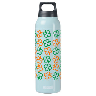 Four leaf lucky clover insulated water bottle