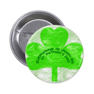 FOUR LEAVE CLOVER 529 6 CM ROUND BADGE