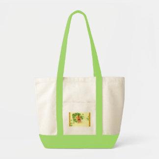 Four leaved clover and horseshoe impulse tote bag